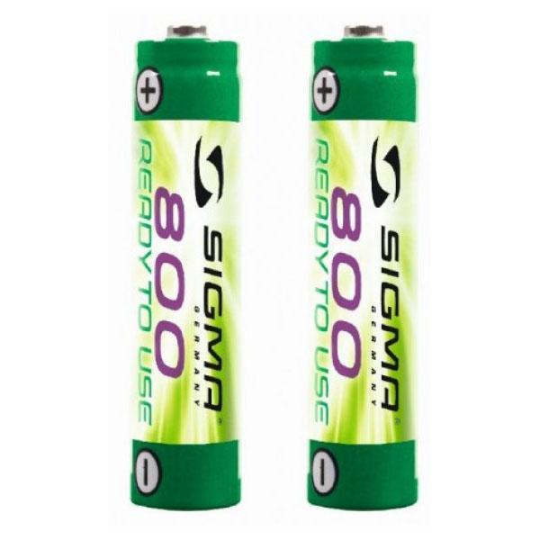 Батарейки аккумуляторные Sigma 800 MAH - 2 pcs - stereo