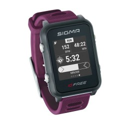 Sigma  часы с пульсометром Id. Free plum