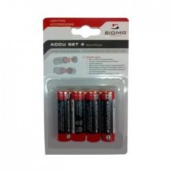 Sigma  набор аккумуляторных батареек 2100 mah pack - 4 pcs