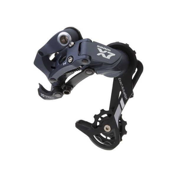 Задний переключатель Sram X-7 10-speed Medium Cage Aluminum Storm Grey